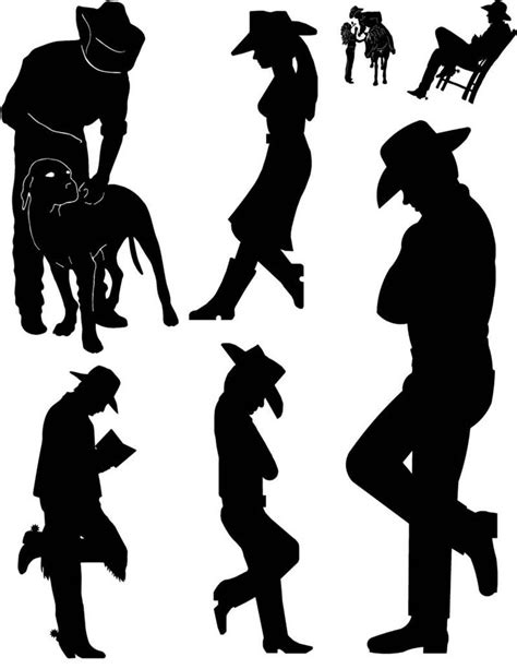cowboy and cowgirl silhouette horse silhouettes cliparts co