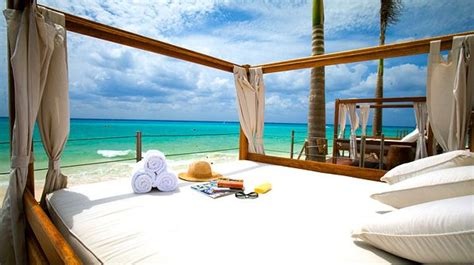 bed on the beach a sun bed on the beach at royal hideaway playacar hotels and resorts pinterest