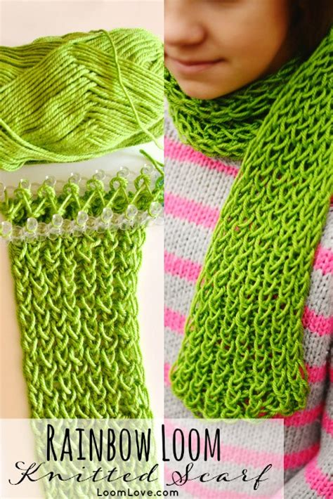 how to loom knit a scarf on loom how to make a knitted scarf on your rainbow loom