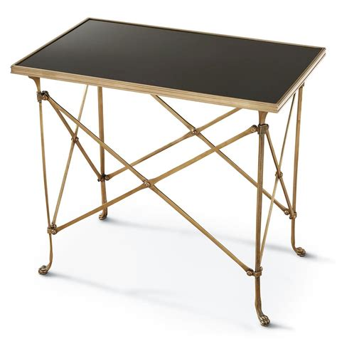 rectangular accent tables directors cut hollywood regency gold black marble