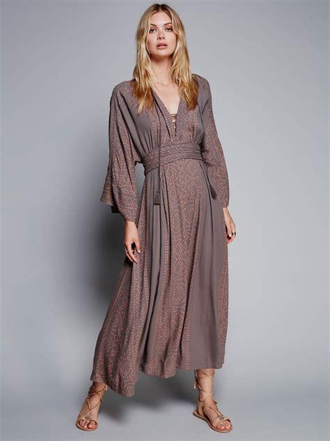 Dress Denimmaxi Dressdress Import Fashion Realpic modern kimono dress at free clothing boutique