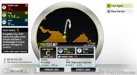 ping test net pingtest net check quality of your connection