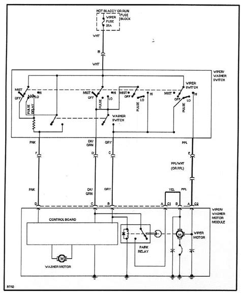 gmc wiper switch wiring diagram engine auto parts