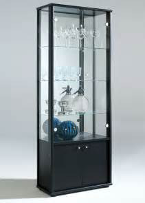Display Cabinets Uk Address Door Glass Display Cabinet With Storage Black