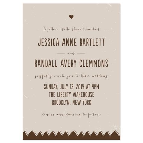 Together With Their Families Wedding Invitations
