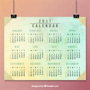 beautiful abstract calendar 2017 in vintage style vector