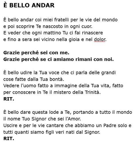 canzoni di chiesa testi eleno testi canzoni 171 parrocchia di san lorenzo da brindisi