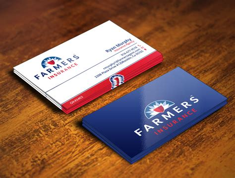 farmers insurance business card templates insurance business cards ideas choice image card design