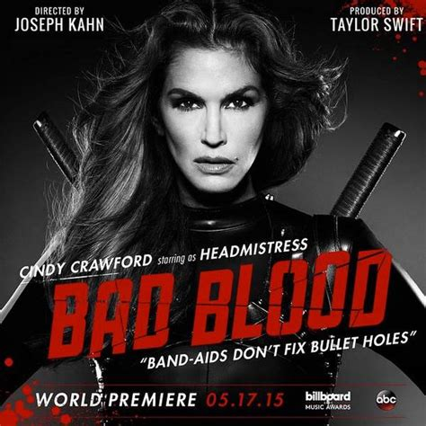 membuat poster bad blood cindy crawford from taylor swift s bad blood music video