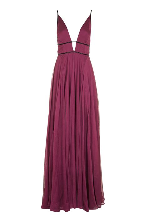 Chiffon Beaded Maxi Dress Topshop