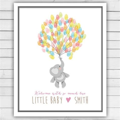 Baby Shower Thumbprint by Printable Baby Shower Guestbook Thumbprint Guestbook Baby