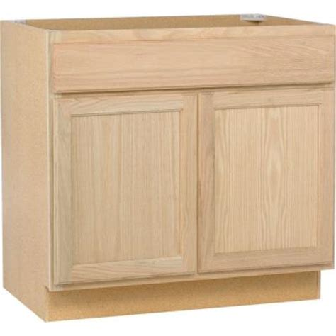 home depot kitchen sink cabinet 36x34 5x24 in sink base cabinet in unfinished oak sb36ohd