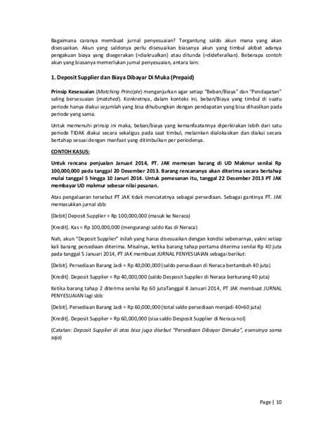 bagaimana membuat jurnal penyesuaian perbedaan adjustment re class correction dalam jurnal entry