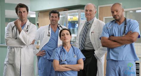 cigna emergency room mash house scrubs er tv doctors unite for new commercial canceled tv shows tv series finale