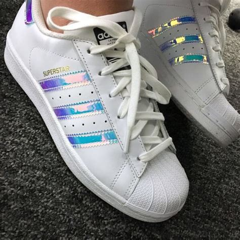 adidas shoes iso superstar iridescent holographic poshmark