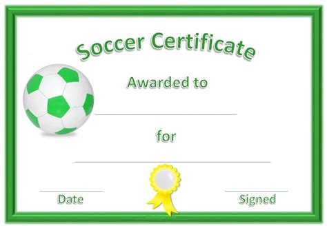 soccer certificate templates soccer certificate templates activity shelter