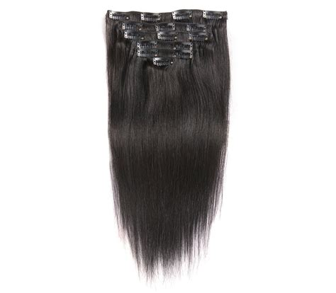 color hair extensions clip in color silky mongolian hair clip in