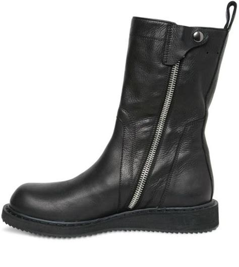 rick owens elk leather boots in black lyst