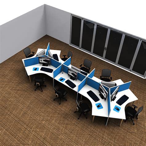 Unique Executive Desks Smart 120 Degree Eight Desk Pod Value Office Furniture