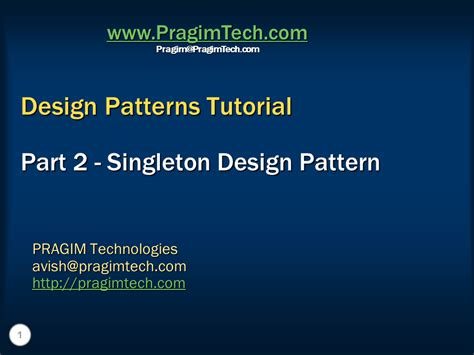 singleton pattern interview questions c sql server net and c video tutorial singleton design