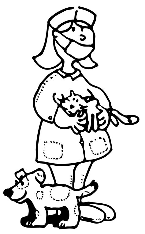 coloring pages veterinarian veterinarian coloring page coloring home