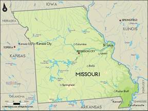 map of united states missouri geographical map of missouri and missouri geographical maps