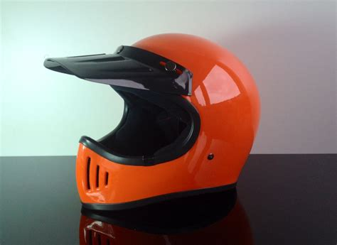 Helm Retro Orange retro style cross helmet orange size l dot approved
