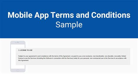 app terms and conditions template mobile app terms and conditions sle termsfeed