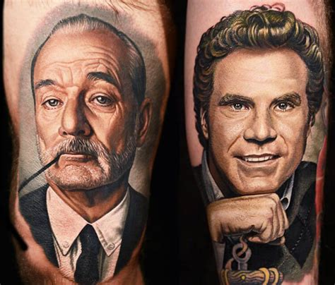 bill murray tattoo bill murray will ferrel by nikko hurtado no 133