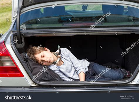 Can The Search The Trunk Of Your Car Without A Warrant Sleeping Boy In The Trunk Of A Car Stock Photo 281333951