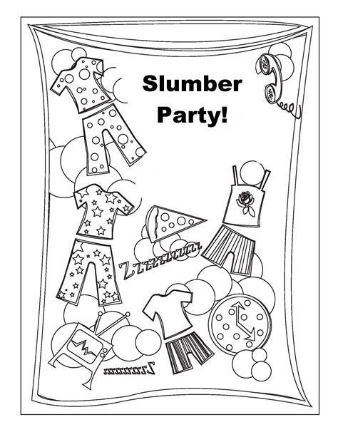 Sleepover Coloring Pages sleepover coloring pages birthday printable
