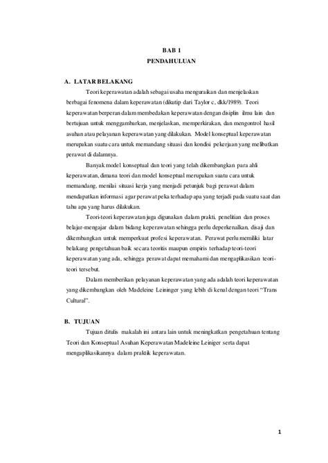 format asuhan keperawatan home care teori dan konseptual asuhan keperawatan madeleine leiniger