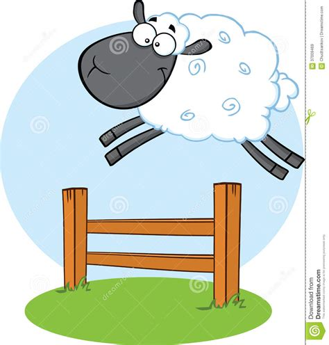 doodle jump x2 black sheep jumping the fence royalty free