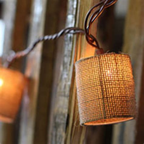 burlap lantern string lights cafe style string light set 10 lights 10 8 end to end connection buy now