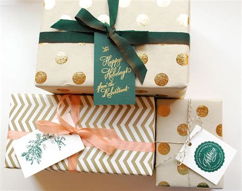 gift wrap ideas diy tutorial festive wrapping with gift tags