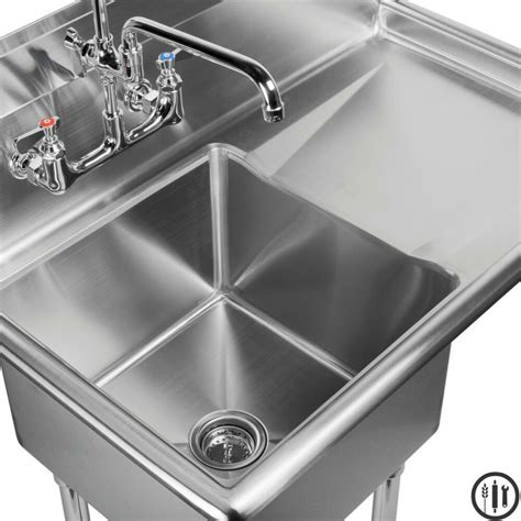 Stainless Steel Prep Sinks by Stainless Steel Prep Sink With Right Side Drain Board 15