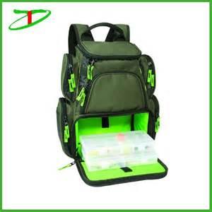 Bsci audit factory cheap fishing tackle bag fashion green fishing