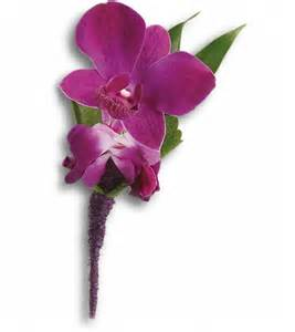 orchid boutonniere send purple orchid boutonniere in boston ma flowers
