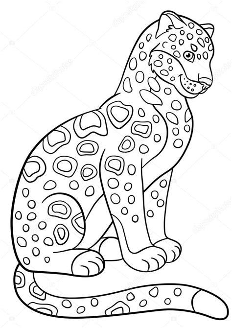 imagenes de jaguar para descargar dibujos para colorear sonrisas de lindo jaguar manchado