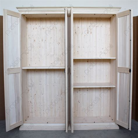 armadi in legno grezzo pratelli mobili armadio su misura grezzo 4 ante in legno