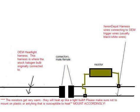 resistor diagram hid resistor diagram 28 images 50w hid resistor wiring harness diagram braking resistor