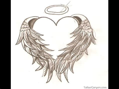 small heart with angel wings tattoo designs with wings designs www imgkid the