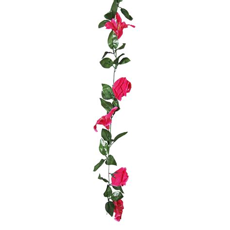 rose and lily flower garland artificial fake flowers vine ivy trellis ebay
