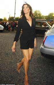 Leggy andrea mclean flaunted her slim pins in a pair of black micro