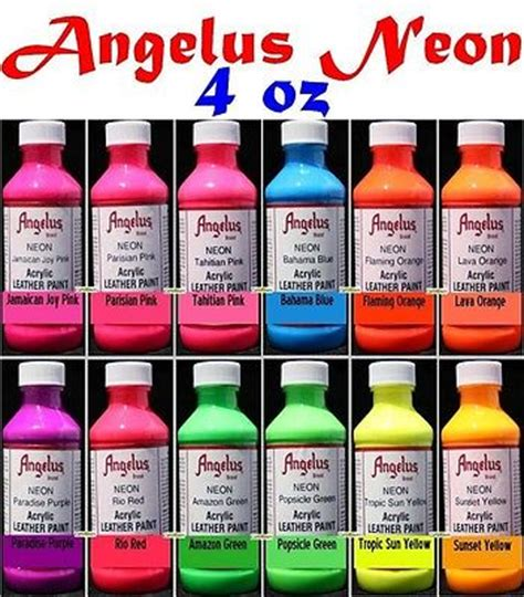 angelus paint national bookstore 4oz angelus acrylic neon paint dye leather vinyl sneaker