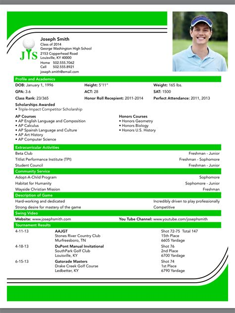 college golf resume template internetjokes web fc2