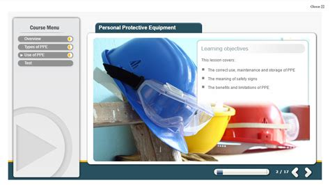 personal protective equipment health and safety elearning