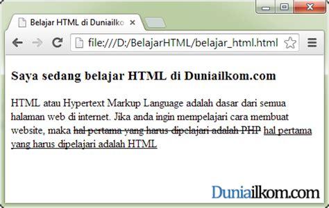 Cara Membuat Underline Html | cara membuat huruf garis bawah underline html tag u dan