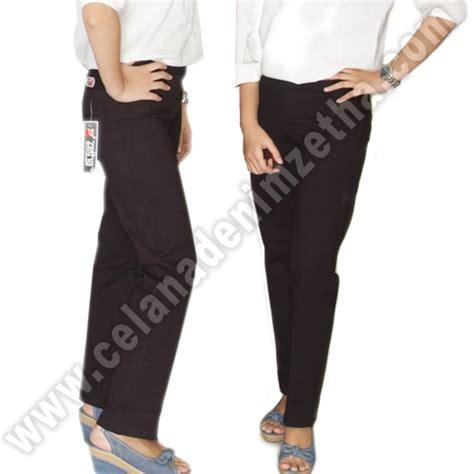celana zetha katun warna hitam celana denim zetha