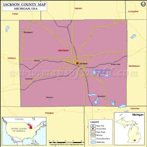 jackson usa maps jackson county map michigan